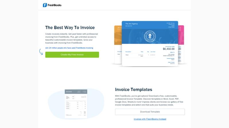 FreshBooks - Freelance invoice template